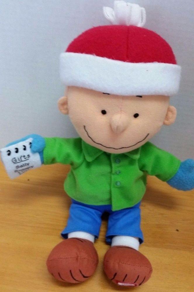 b63c5dd6d2114 CHARLIE BROWN Talking Plush Doll Hallmark PEANUTS Gang Picking the Perfect  Gift