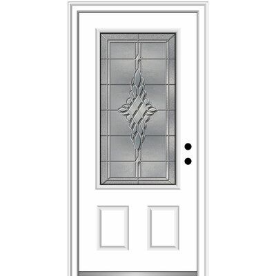 Verona Home Design Fibreglass Smooth Grace 3 4 Lite 2 Panel Single
