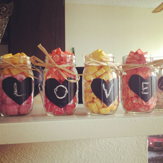 Mason jar candy holders