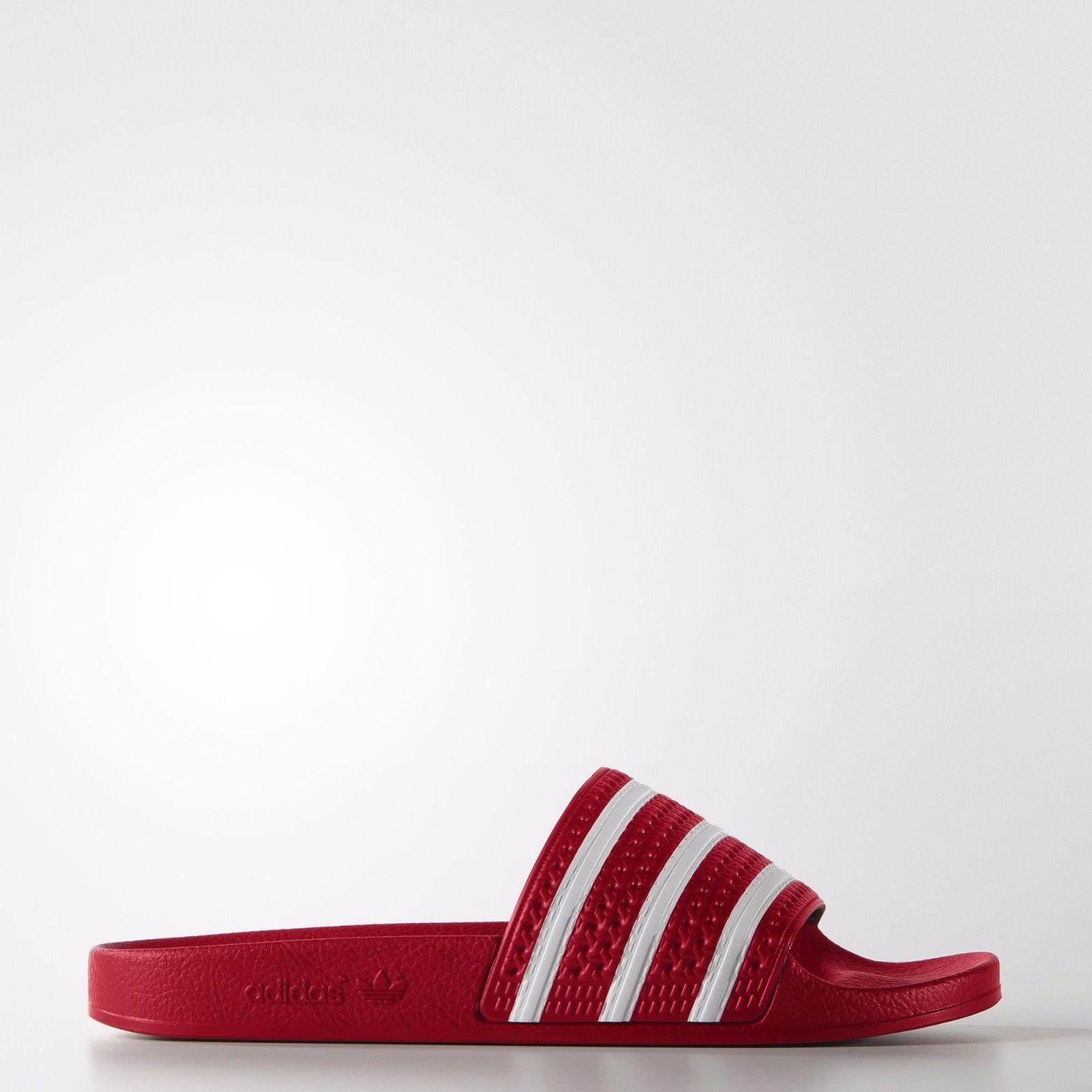 sandali e le infradito 11504: adidas uomini s adilette rosso scarlatto
