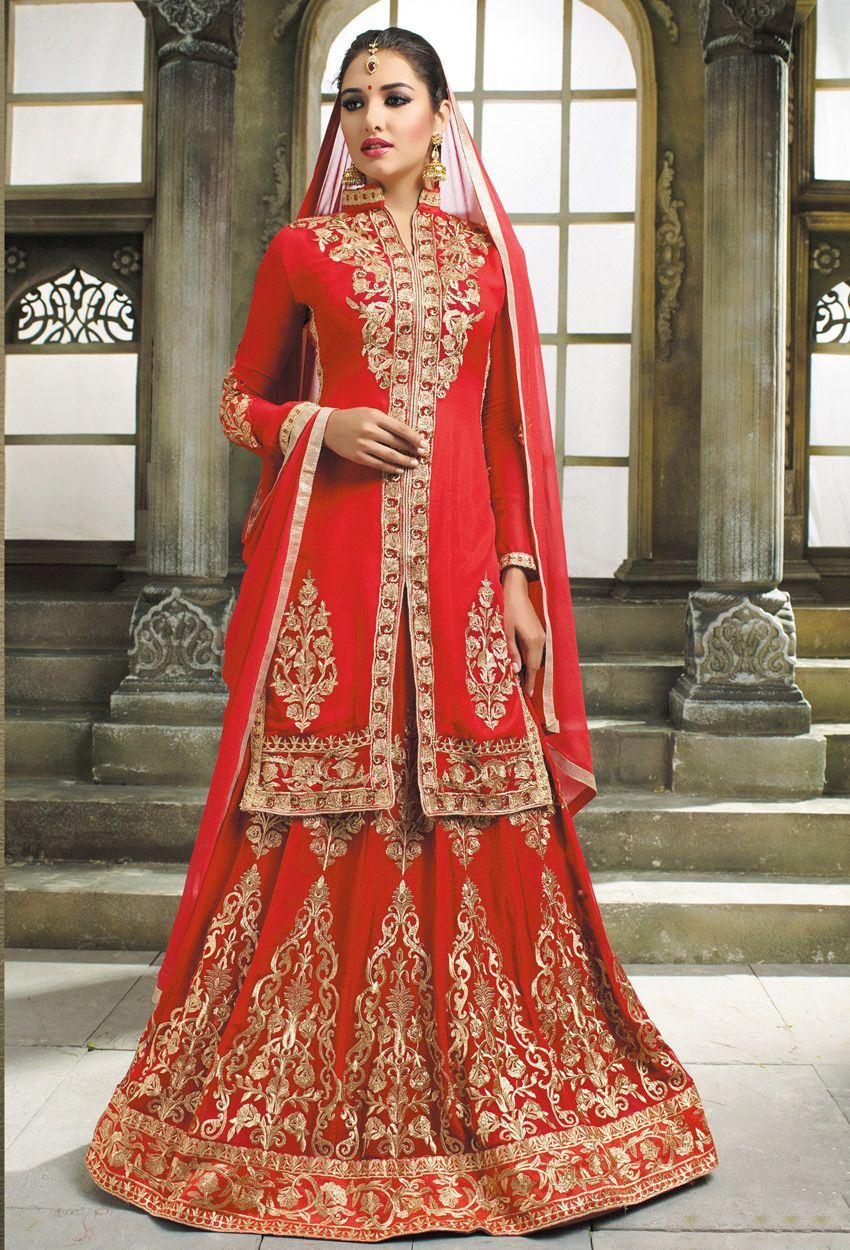 ccd1baa576 Semi Stitched Red Georgette Sharara Suit #Pure #Chiffon #Georgette #Sharara  #Suit #nikvik #usa #designer #australia #canada #freeshipping  #pakistanisuit ...