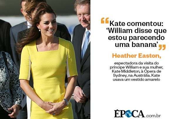 """""""Kate comentou: 'William disse que estou parecendo uma banana'"""""""