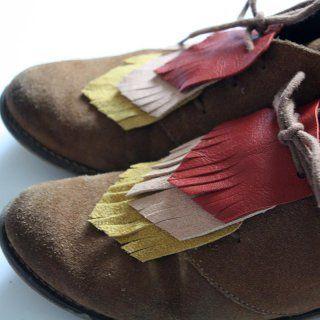 3a5040bb6f0 Customiser ses chaussures avec des franges en cuir - Marie Claire Idées