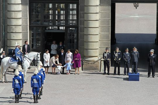 The royal family gathered at the celebration.  Photo: Kungahuset.se