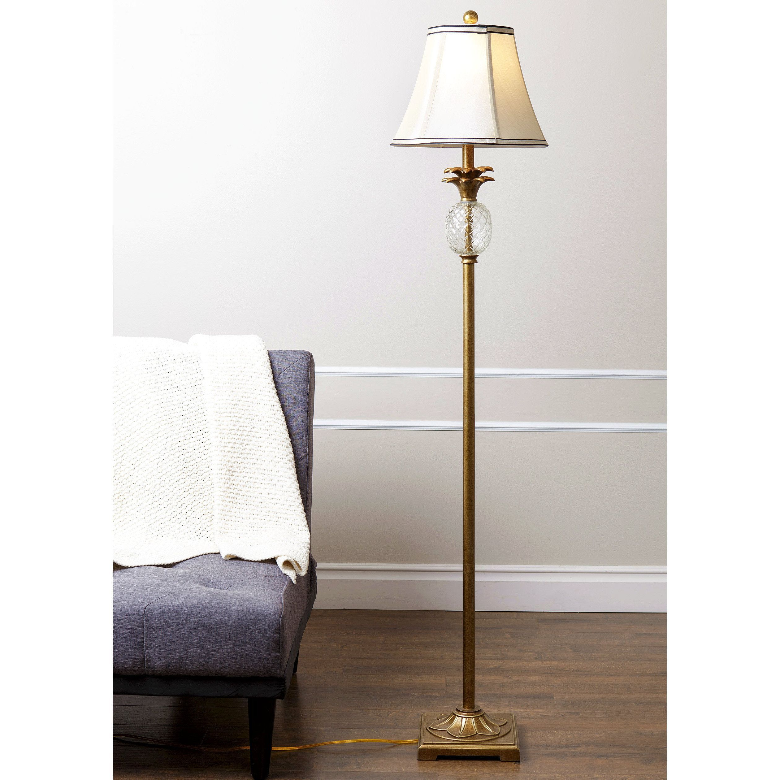 Alexandra Antiqued Gold Pineapple 61 Inch Floor Lamp By Abbyson