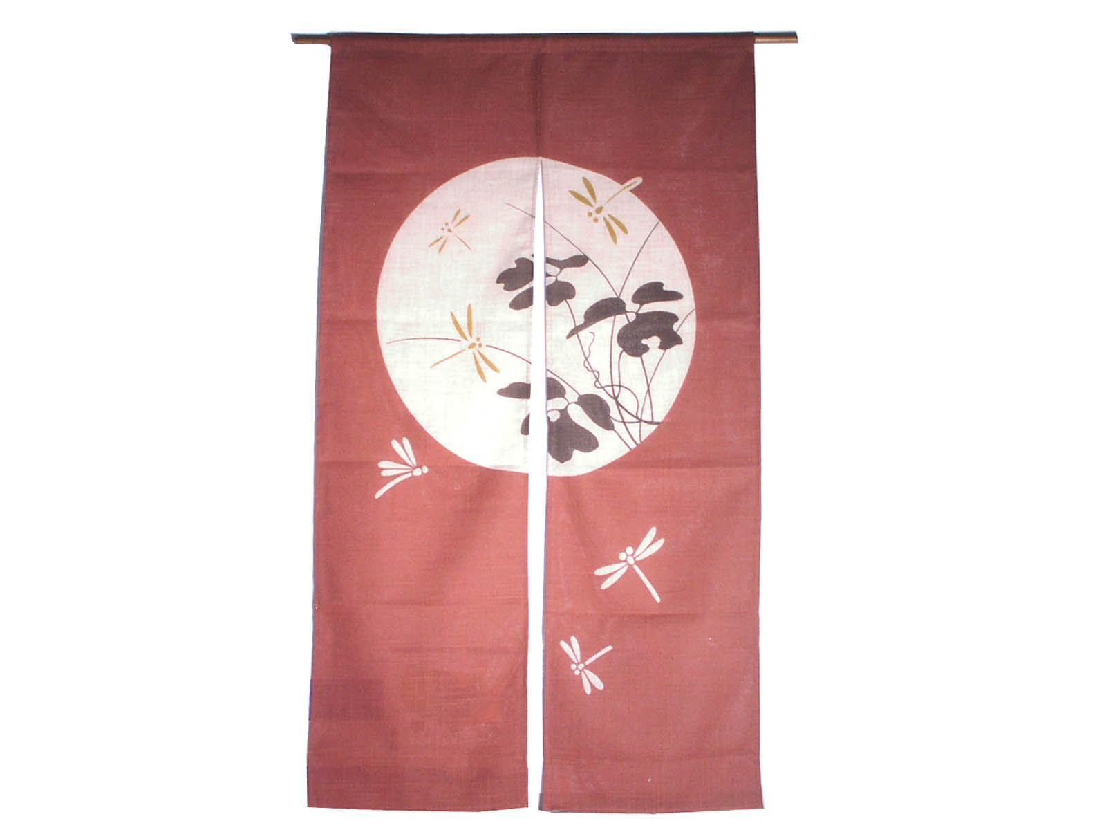 Dragonflies Airborne Noren Japanese Decor Japanese Traditional