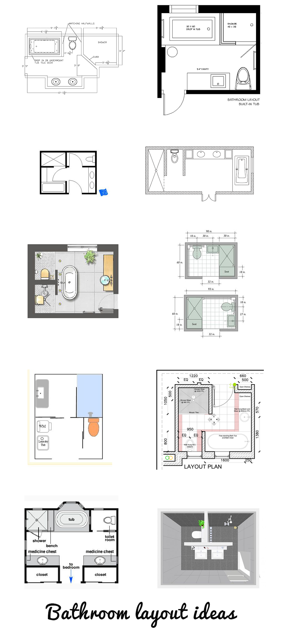 Best 12 Bathroom Layout Design Ideas | Home | Pinterest | Bathroom ...