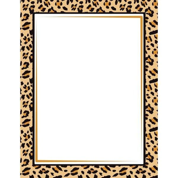 Leopard Print Border Clip Art Page And Vector Graphics Liked On Polyvore Featuring Borders Frames Picture Frame