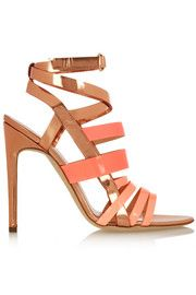 Antonio Berardi + Rupert Sanderson Tallyho metallic leather sandals