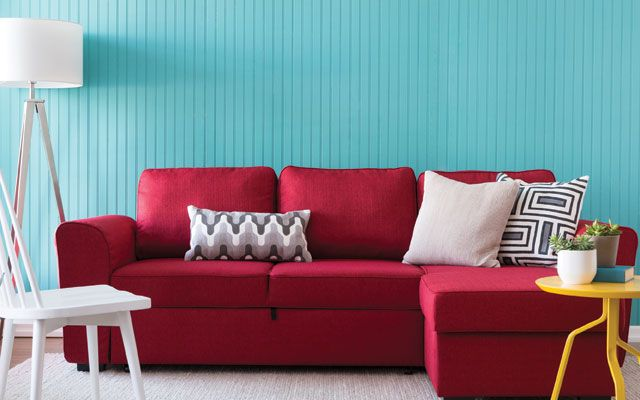 Fund your home makeover with Airbnb! | Quick tip: Invest in a statement sofa to make an impact in the most central room of your home. The Berto sofa, pictured here, is a great choice since it doubles as a sofa-bed, and also offers extra storage space. A fantastic plus if you are listing your space on Airbnb!