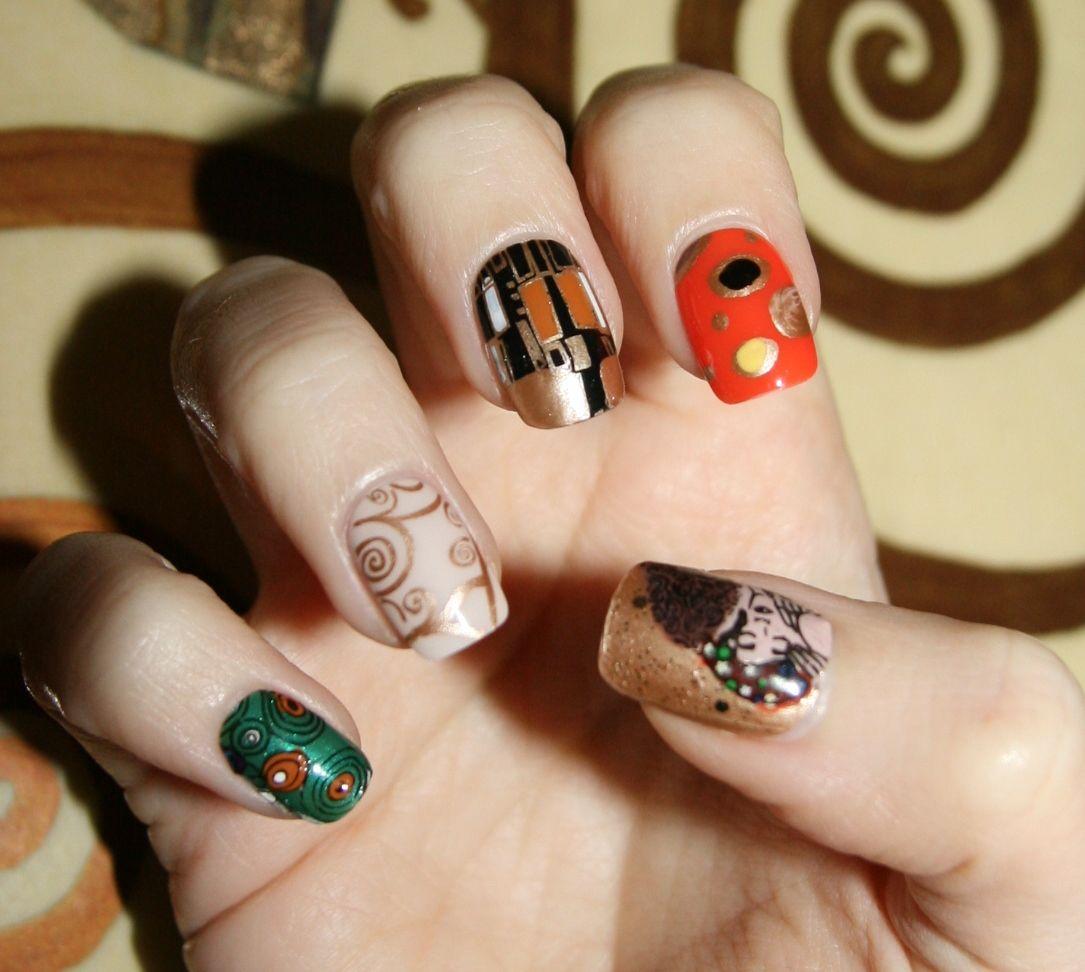 Klimt nail art - Laura\'s Pills Nails | Pinterest