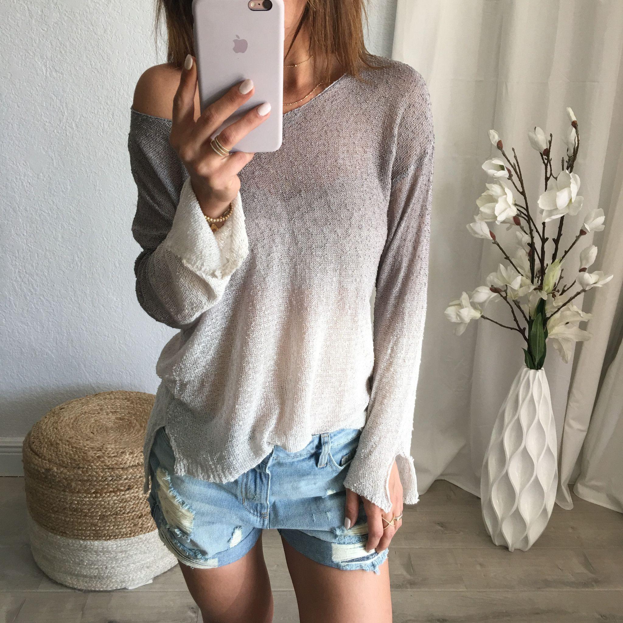 Ava Ripped Jean Shorts