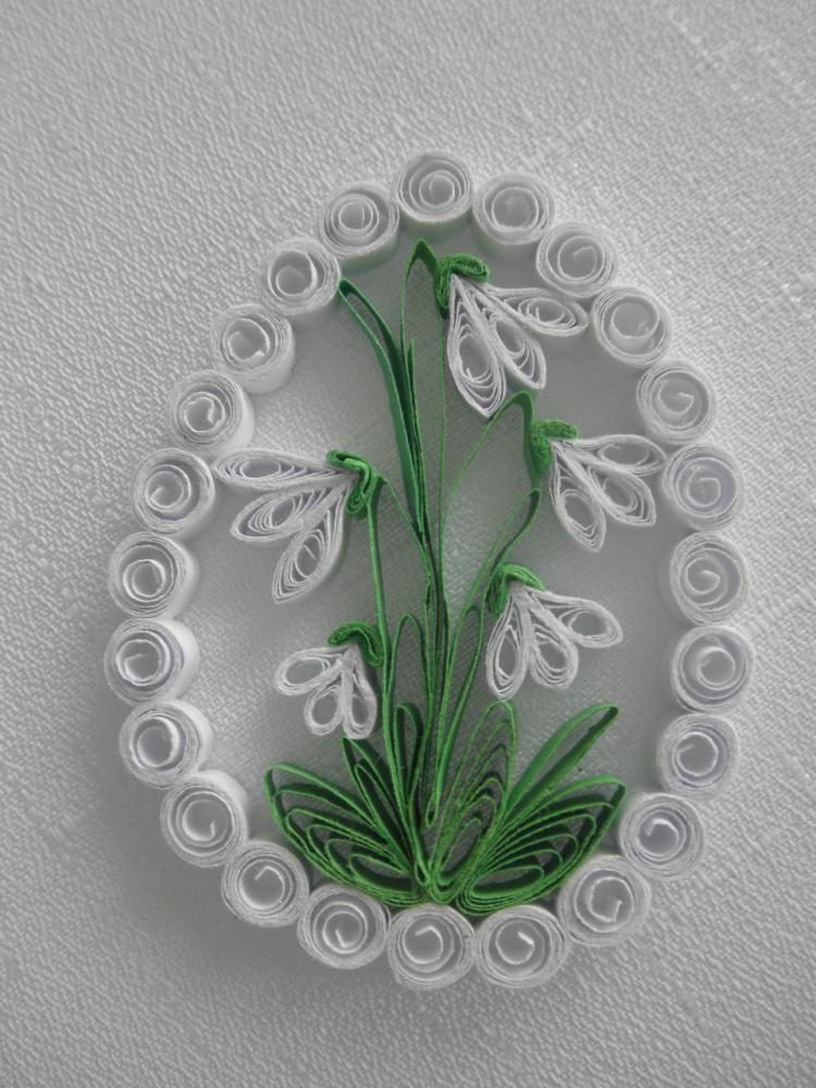 Dekorácie - Veľkonočné vajíčko - snežienka - 3745782_