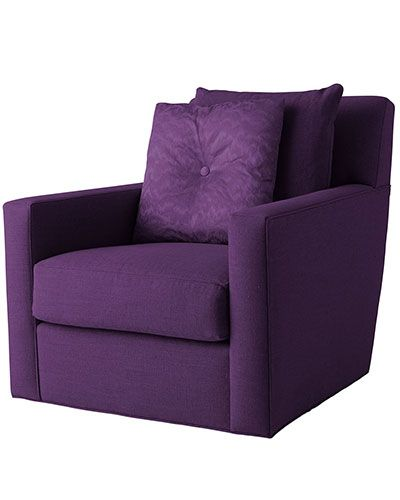 purple swivel chair high walmart the top 10 chairs furniture evin by baker evette rios admires traditional clean line shape which can be ordered in any fabric or leather