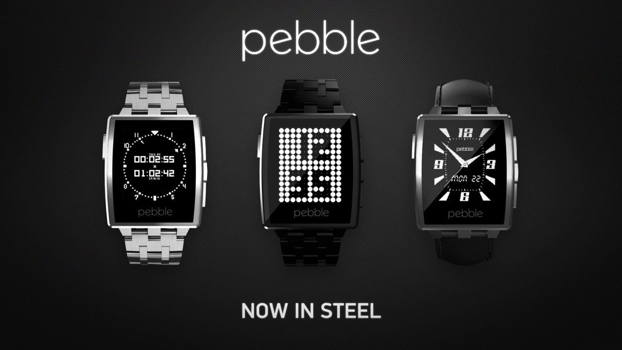 "Pebble Steel: ""Ready to Go"". Pebble Steel, the premium watch for iOS and Android, is the newest addition to Pebble's smartwatch family. Pebble Steel wraps everything users know and love about Pebble—clear ePaper display, week-long battery life, and waterproof design—into a slimmer, classic form factor. Available now in Black Matte or Brushed Stainless exclusively on getpebble.com for $249, worldwide shipments of Pebble Steel will begin January 28."