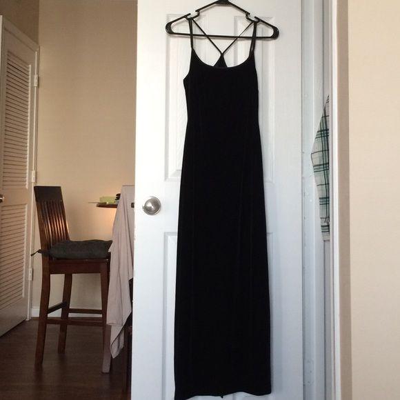 Black dress velvet room