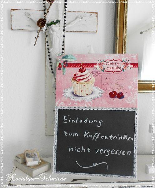 Tafel Memoboard Cupcake von Nostalgie-Schmiede auf DaWanda.com