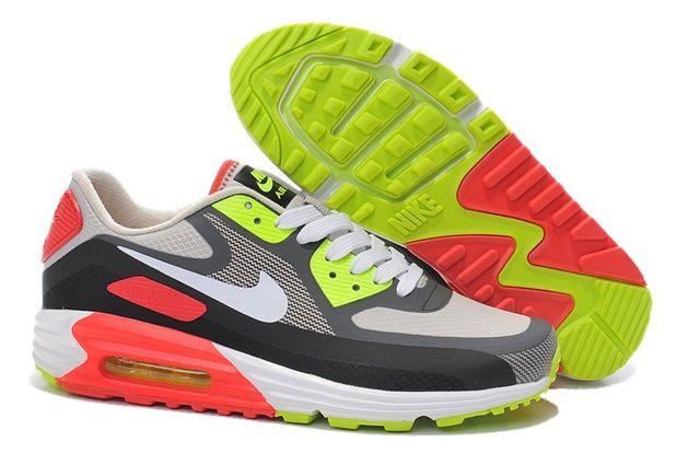 Online Nike Air Max 90 Lunar Mens Shoes White Red Gray Black
