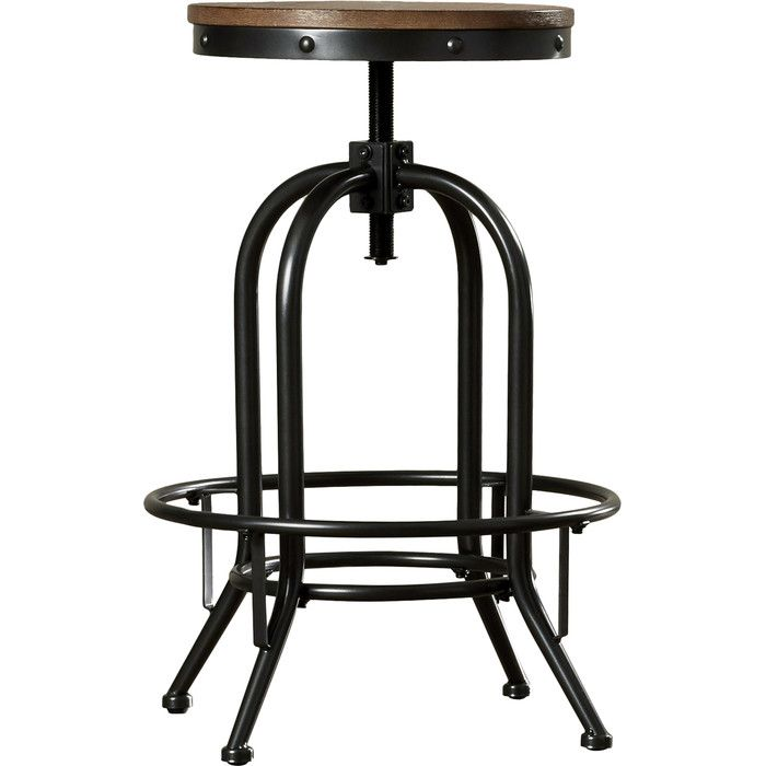 Superb Goethe Adjustable Height Swivel Bar Stool New Kitchen Squirreltailoven Fun Painted Chair Ideas Images Squirreltailovenorg