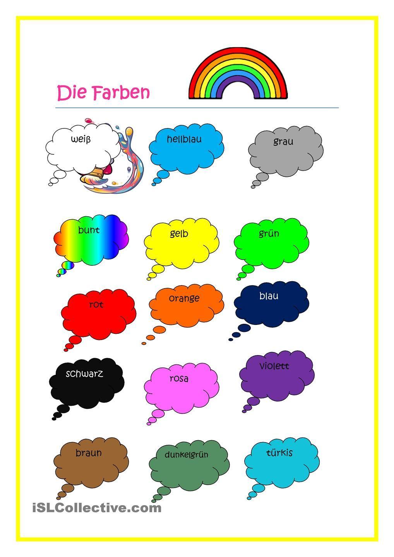 die Farben   Farben lernen, Farben, Arbeitsblätter