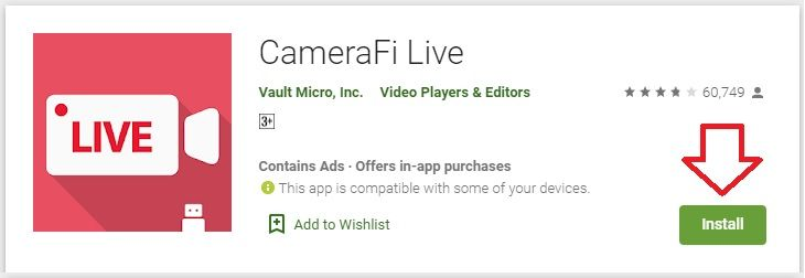 Camerafi live for pc download guide on windows 1087