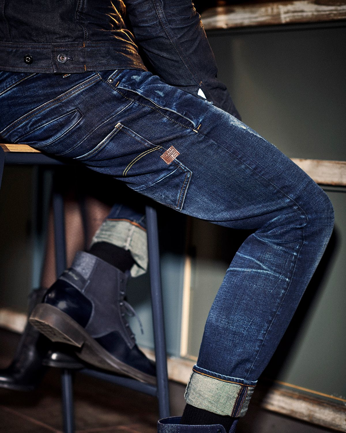 D Staq 3d Slim Jeans Worn In Wave Destroyed G Star Raw Mens Pants Fashion Denim Shirt With Jeans Pants Outfit Men