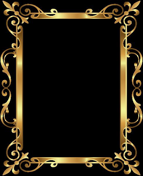 Gold Border Frame Deco Transparent Clip Art Image Molduras