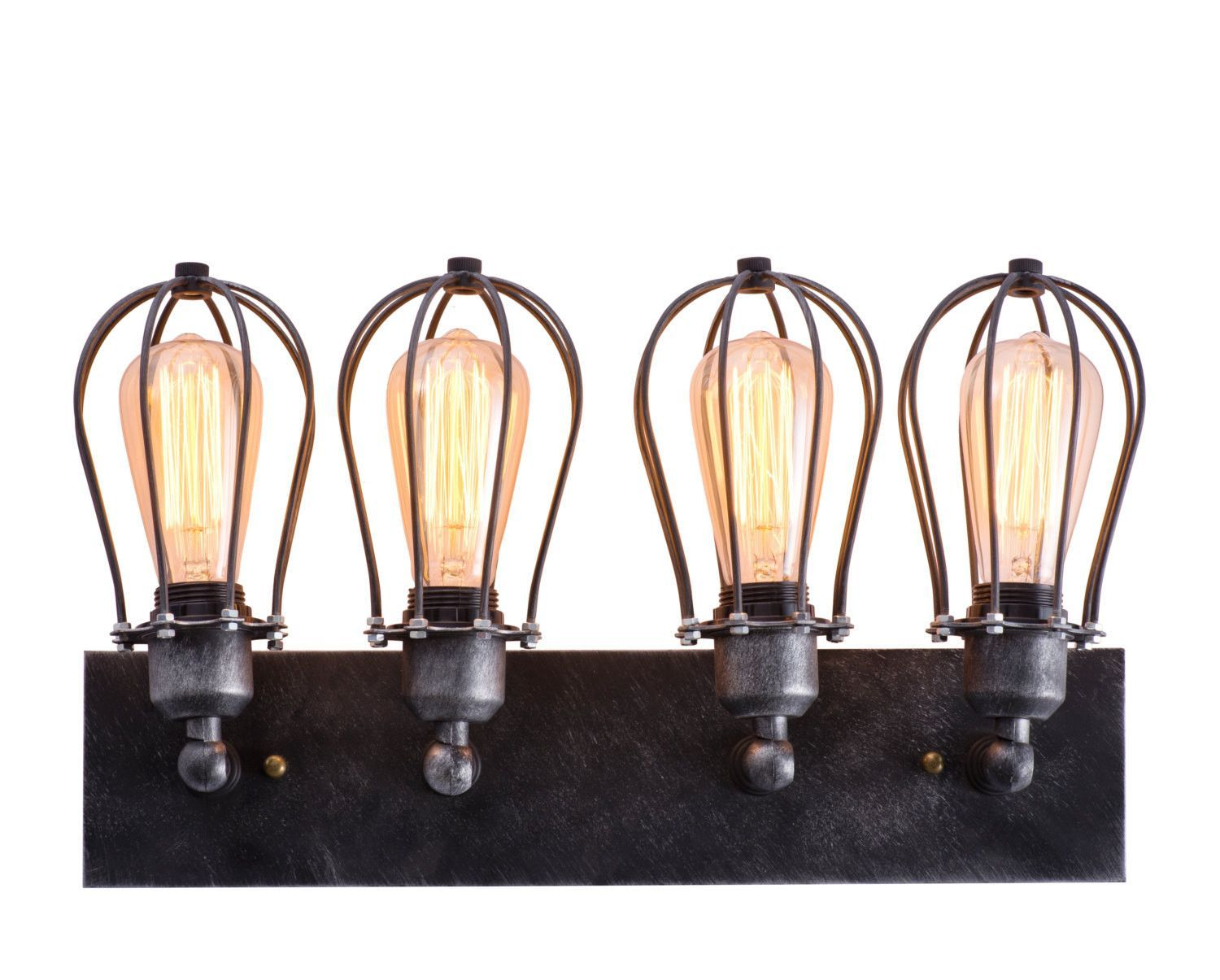 Rustic iron wall lights cast iron wall lighting fixtures ebay industrial cage wall lamp retro iron wall sconces rustic bathroom aloadofball Images