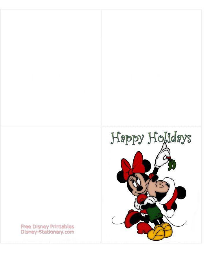 Free Printable Christmas Cards Free Printable Disney Christmas Cards Doug Smart S Smart Business Disney Christmas Cards Disney Christmas Christmas Cards Free