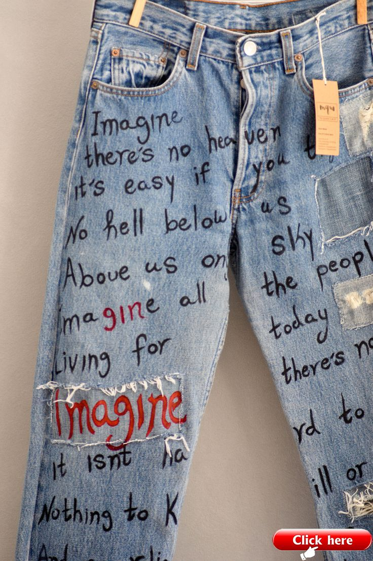 Embroidered Vintage Denim Mom Jeans Hand Embroidered Vogue Lee Straight Cut Jeans