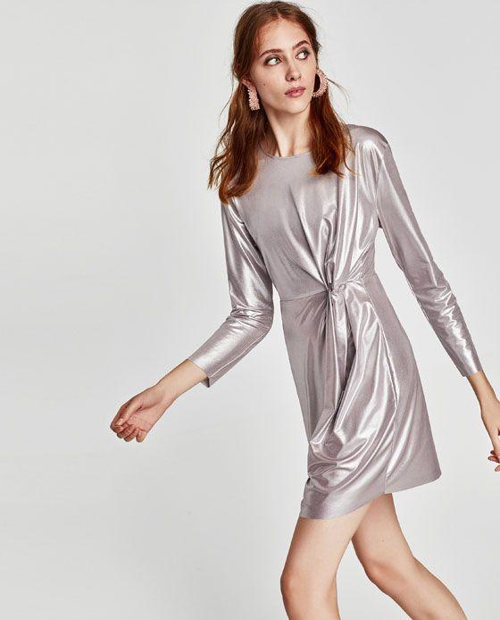 04d37f545e SILVER METALLIC DRESS from Zara #aw17 Silver Metallic Dress, Best Blazer, Holiday  Party
