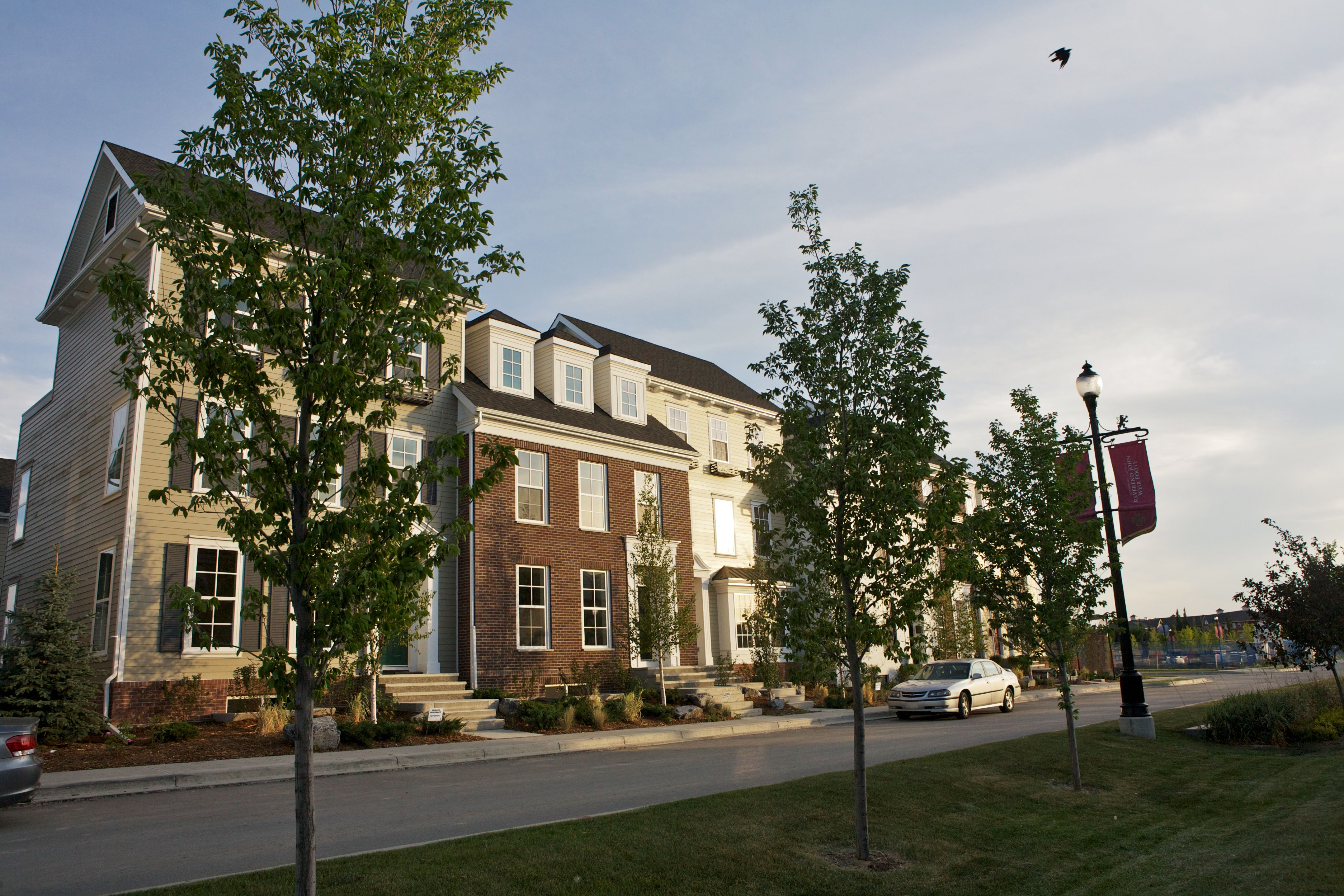 Colonial Homes With Dormer Windows Custom Window Boxes James Hardie Siding And Brick Victoria Cross Townhomes In Curri We Create Great Exteriors