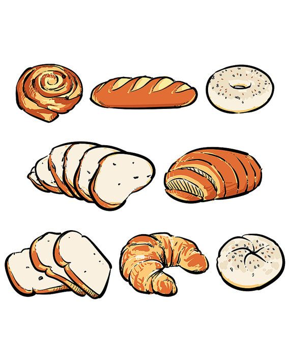80 Off Sale Vector Fresh Bread On A White Background Hand Drawn