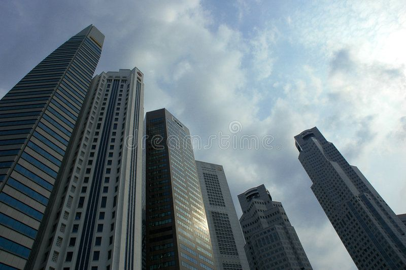 Singapore Skyscrapers Skyscrapers Reaching Towards The Afternoon Sky In The Ban Spon Reaching Skyscrapers Sing Skyscraper Singapore Stock Images Free