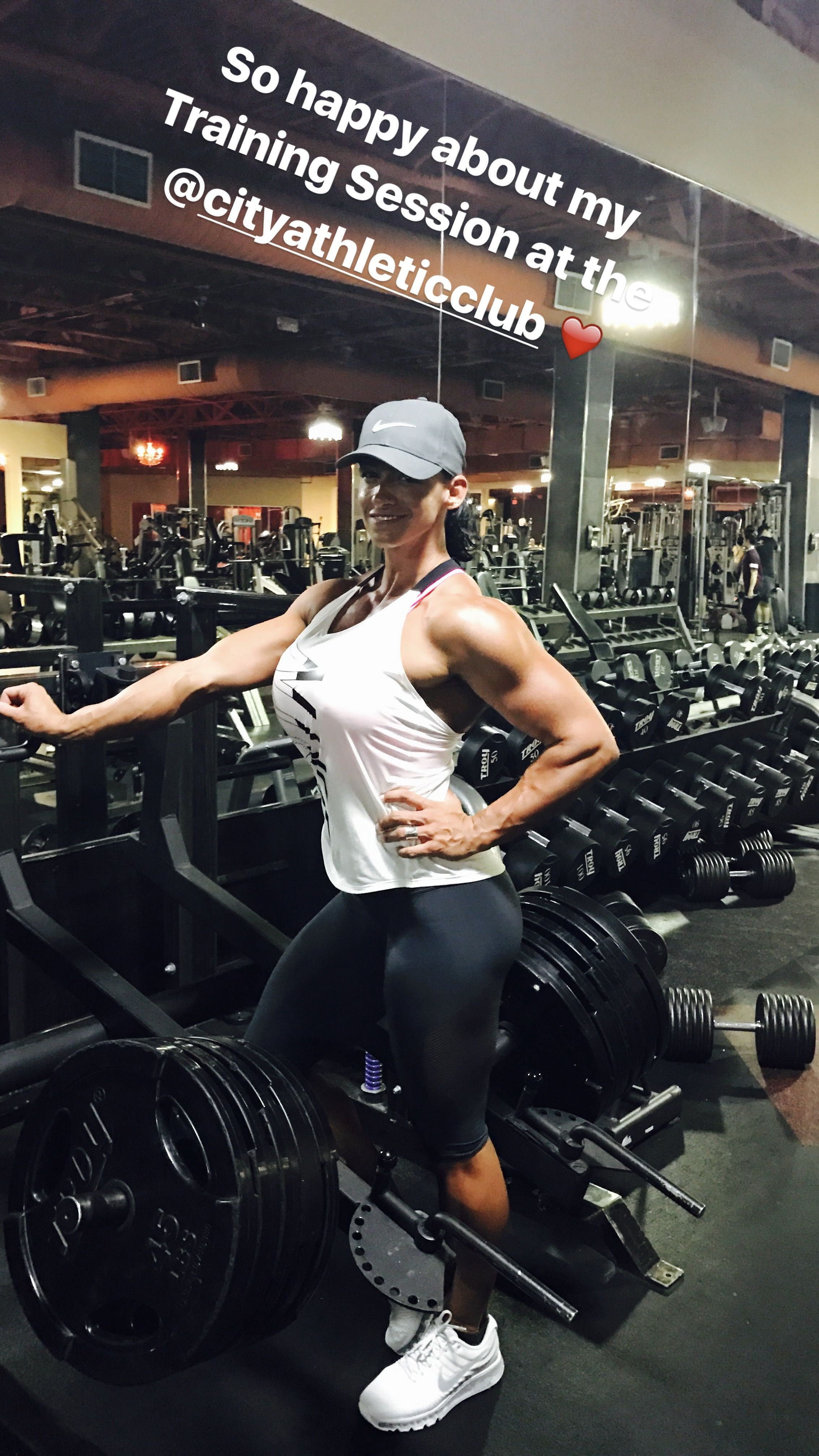 Straight fitness model and personal trainer
