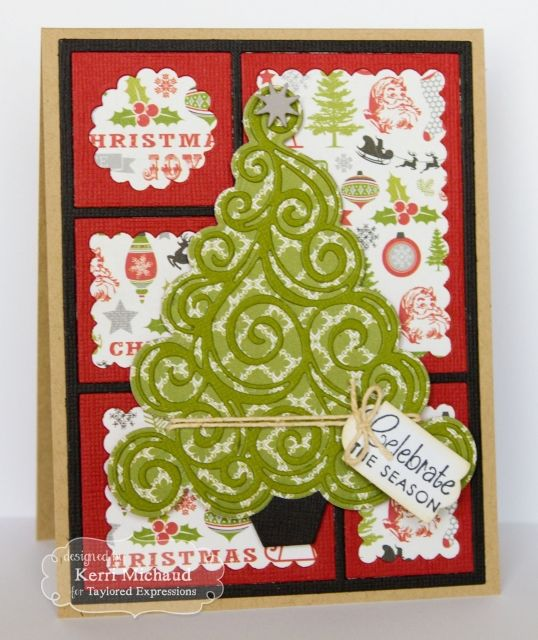 Celebrate the Season Card by Kerri Michaud #Cardmaking, #CuttingPlates, #Christmas
