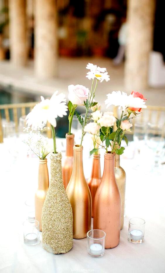 Une Idee Facile Et Diy De Centre De Table De Mariage Custom In 2020 Unique Wedding Centerpieces Wedding Centerpieces Diy Diy Wedding Decorations