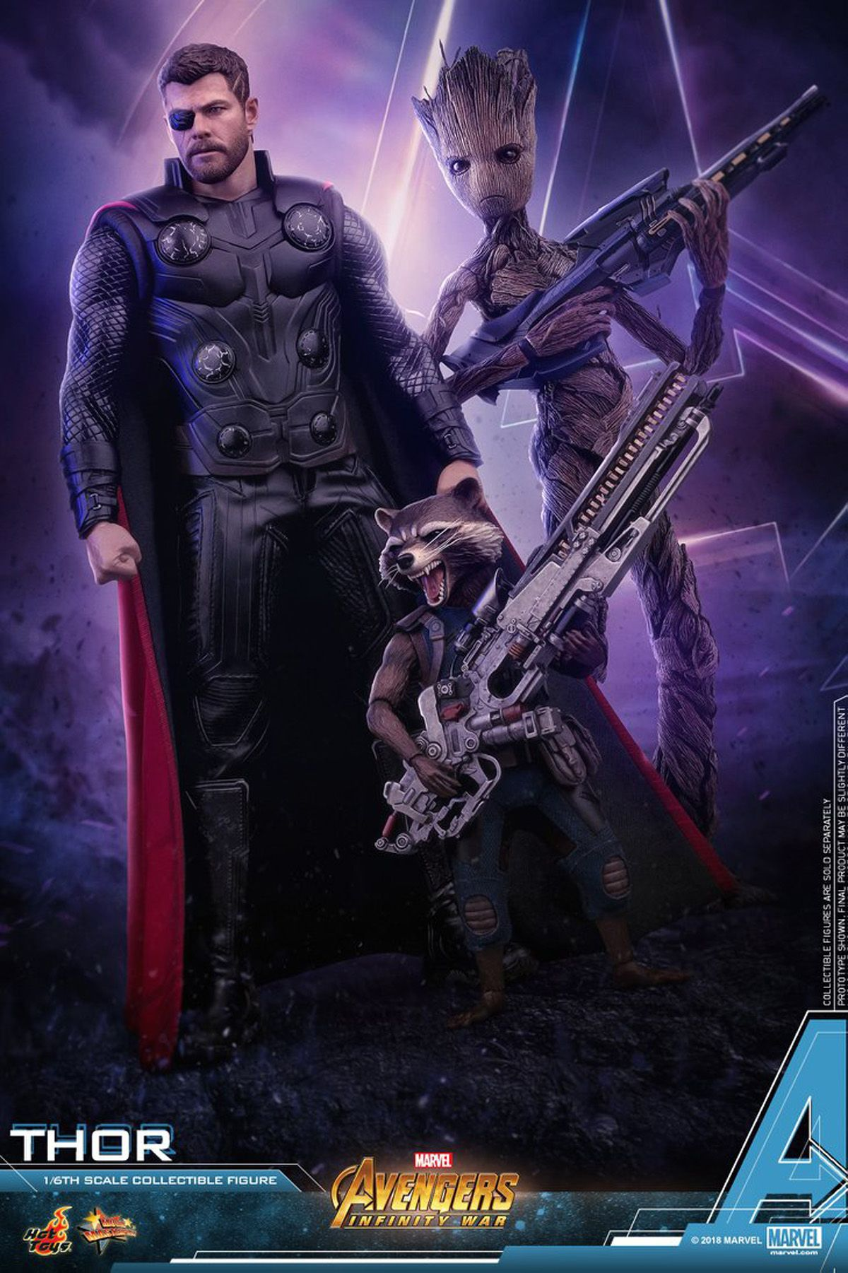Teenage Groot and Thor Hot Toys from Infinity War Revealed | Marvel Comics (Everything ...