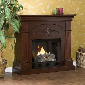 New Southern Enterprises Chamberlain Gel Fuel Fireplace Harvest Mahogany Living Room Decor Furniture Gel Fireplace Fireplace