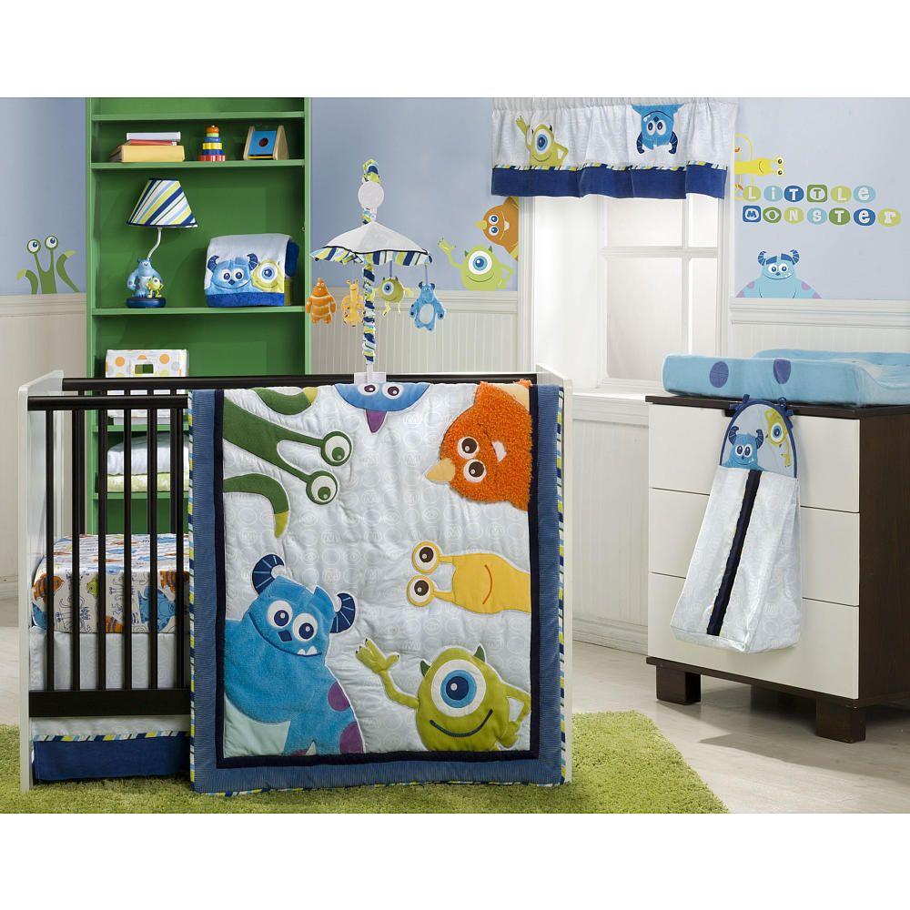 Monsters Inc 4 Piece Crib Bedding Set Kids Line