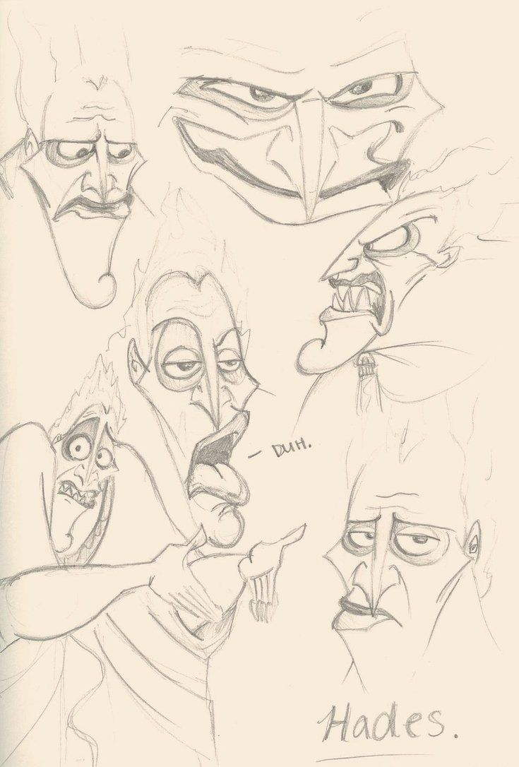The Many Faces Of Hades By Imperviousbriarpatch Jpg 735 1086 Disney Sketches Hades Hades Drawing