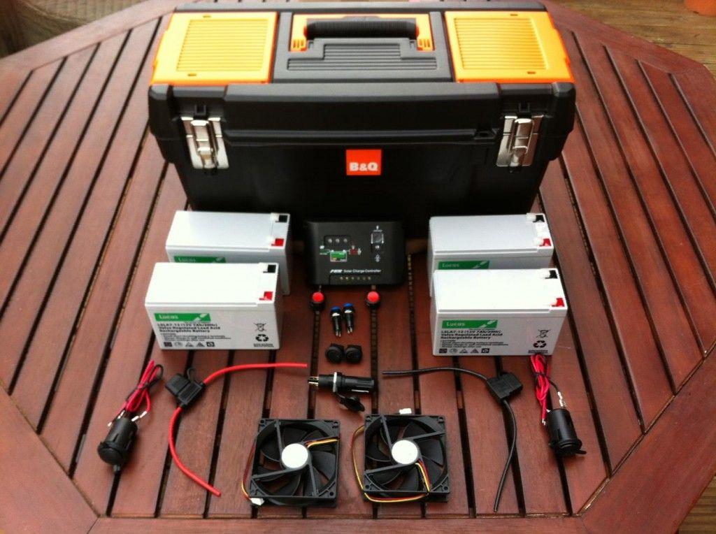 Portable Solar Power Generator - Components