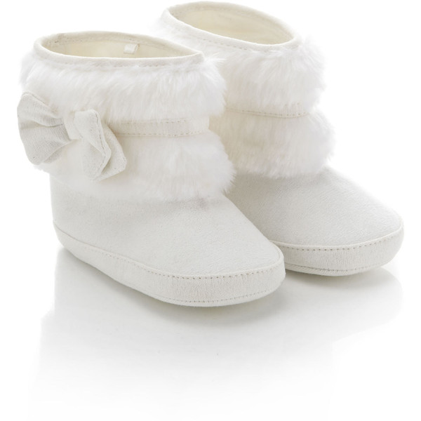Monsoon Baby Fluffy Bow Slipper Boot
