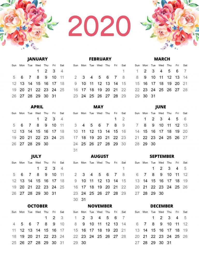 Free Printable 2020 Planner 50 Plus Printable Pages!!! - The Cottage Market