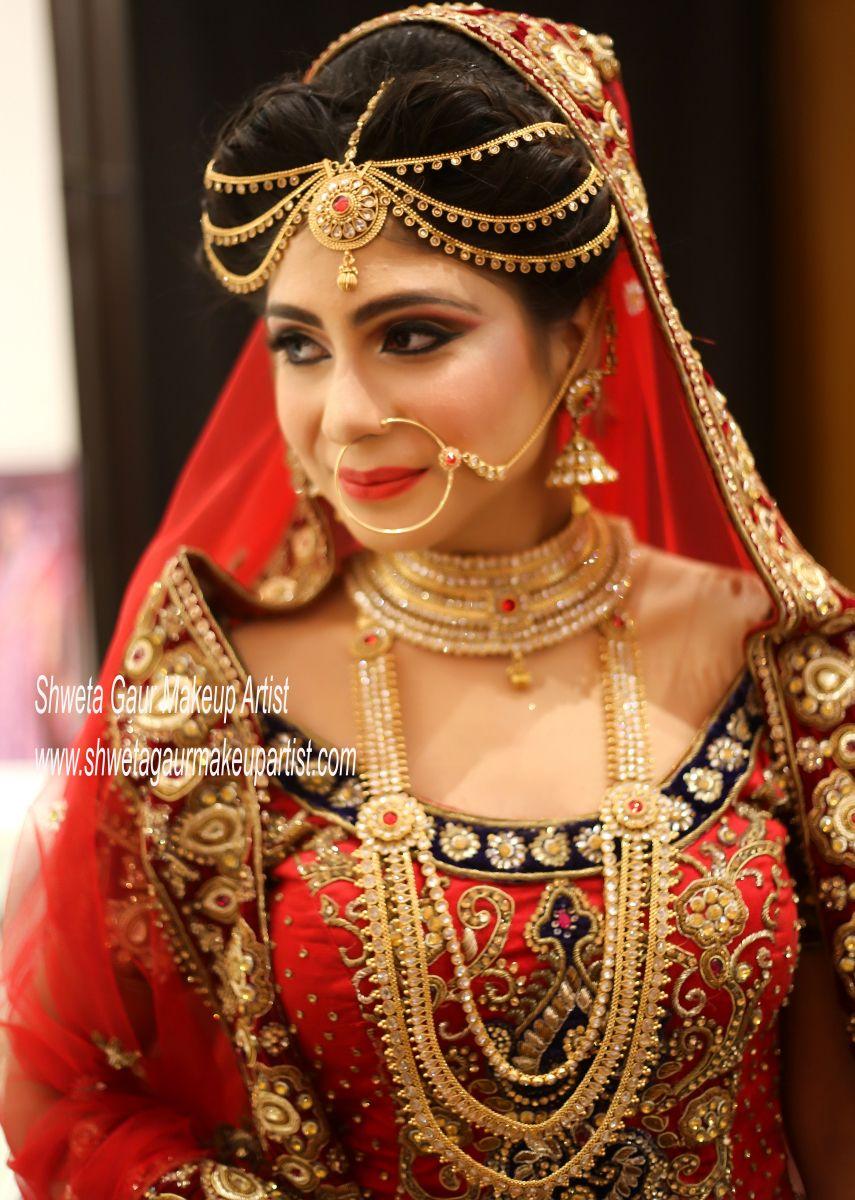 for bridal gallery follow shweta gaur makeup artist +91 97168 31277