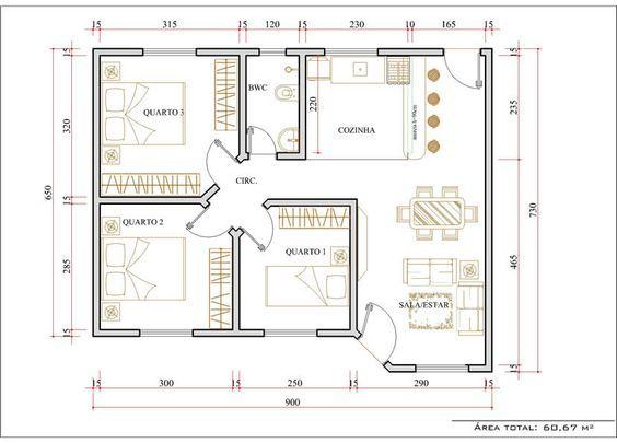 Plantas de casas de campo com 3 quartos e varanda casa for Casa de tres plantas sylvanian