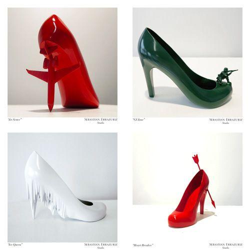 """fba9ce471b8 12 Shoes for 12 Lovers"""" by Sebastian Errazuriz. Shown: The Jetsetter ..."""