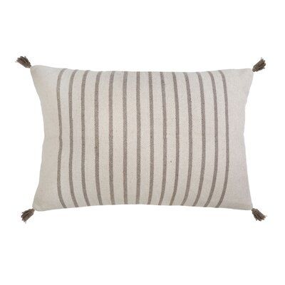 Pom Pom At Home Morrison Cotton Feathers Striped Lumbar Pillow Pom Pom At Home Big Pillows Woven Pillows