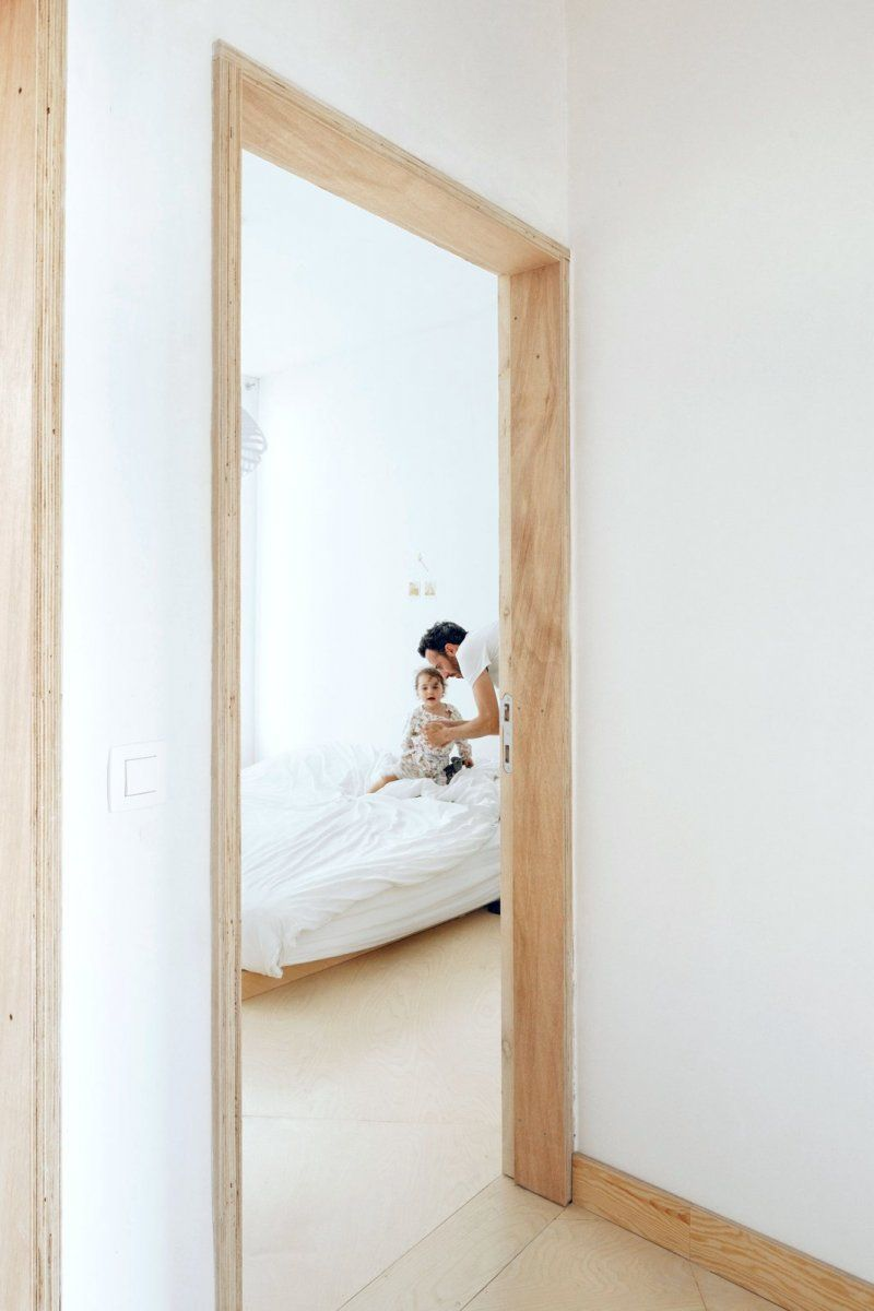 Plywood door frame. AV by i.s.m.architecten   Pinterest   Häuschen
