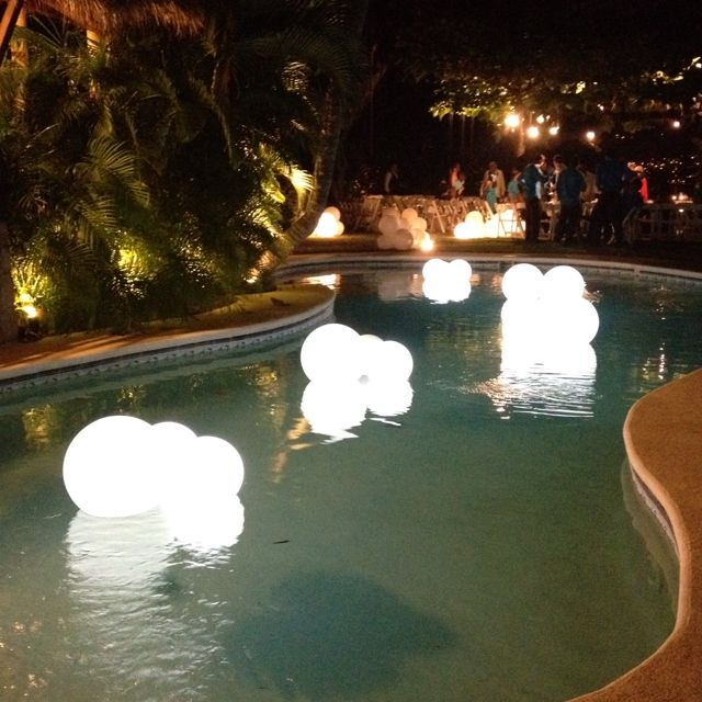 Swimming Pool Decor For Outside Weddings WP Eventos Mexico Acapulco